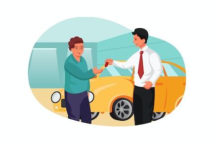 Employees wholesale car keys to buyer