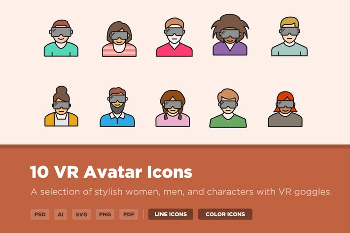 Thumbnail for 10 VR Avatar Icons