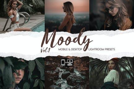 Moody Vol. 1 - 15 Премиум Пресеты Lightroom