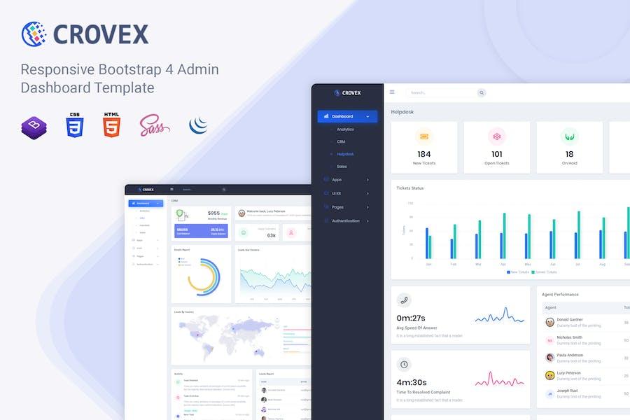 Crovex - Admin & Dashboard Template