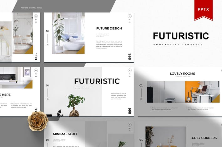 Thumbnail for Futuristic   Powerpoint Template