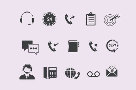 15 Callcenter-Icons