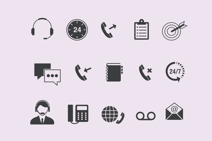Thumbnail for 15 Call Center Icons