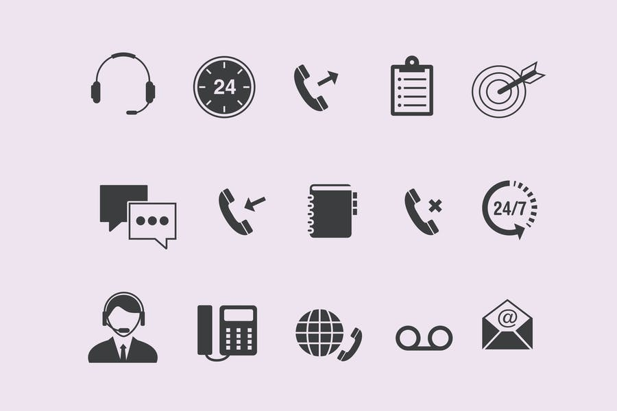 15 Call Center Icons