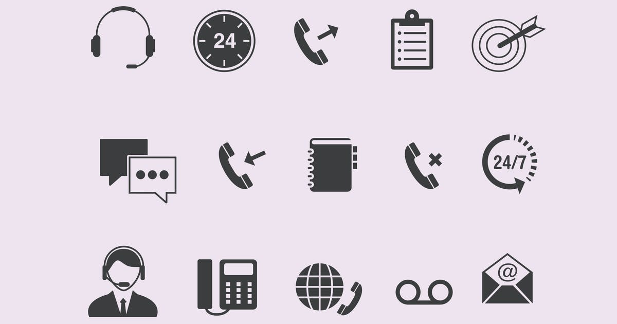 Download 15 Call Center Icons by creativevip
