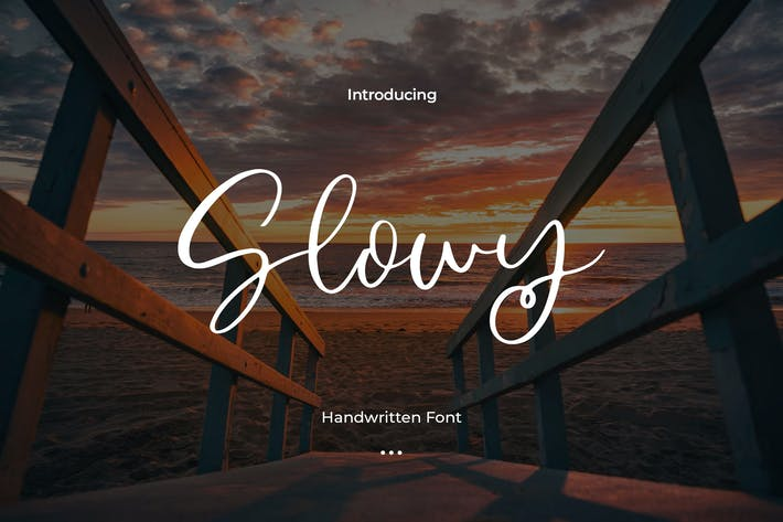 Thumbnail for Slowly - Handwritten Font