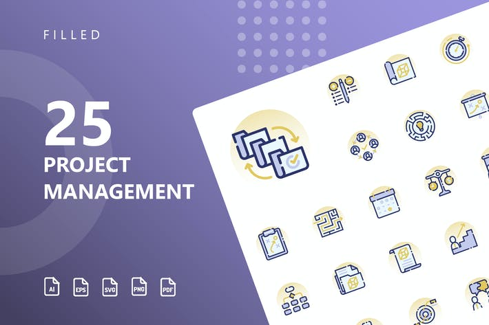 Thumbnail for Project Management Filled Icons