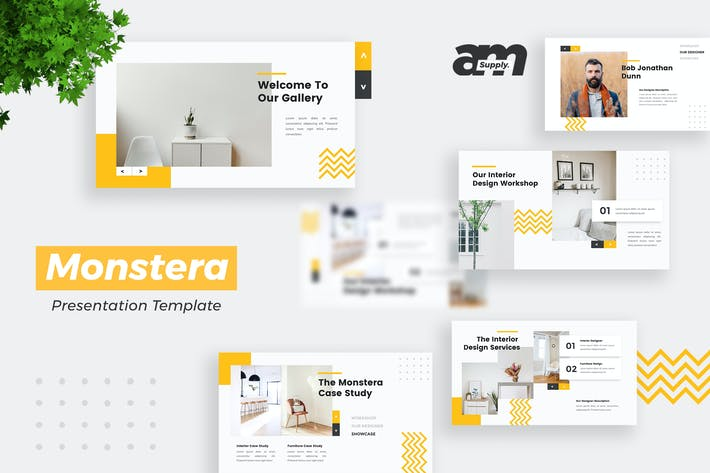 Thumbnail for Monstera -  Interior _ Furniture Powerpoint Templa