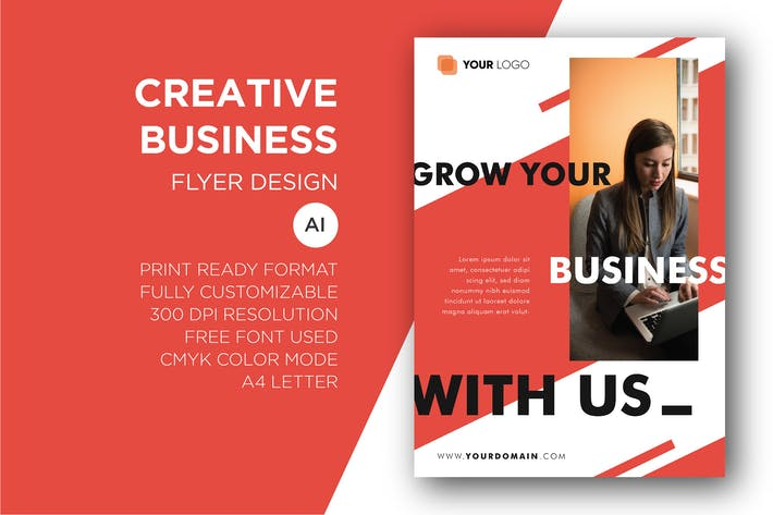 Thumbnail for Creative Business - Flyer Design Template Vol. 01