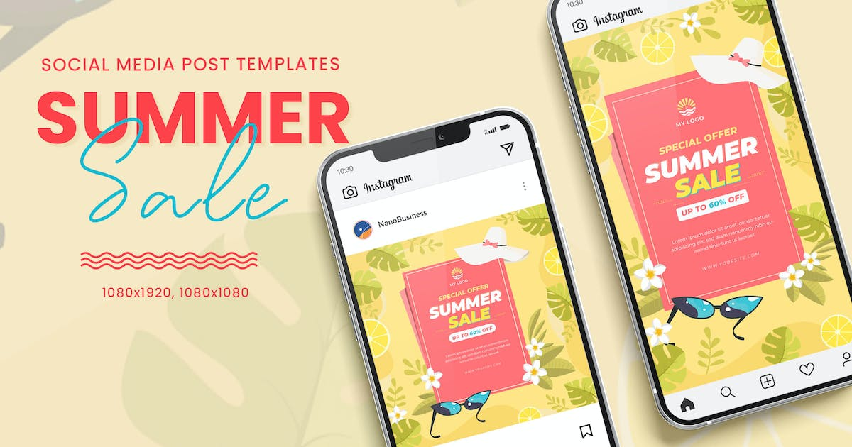 Download Hello Summer Sale Banner Templates by nanoagency