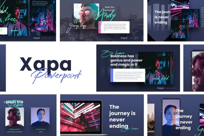 Thumbnail for XAPA - Modern Powerpoint Template