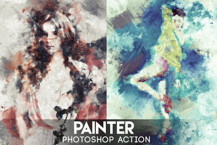 Thumbnail for Painter Photoshop Action