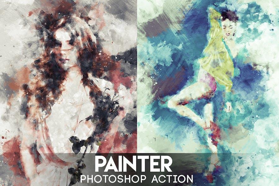 Painter Photoshop Action