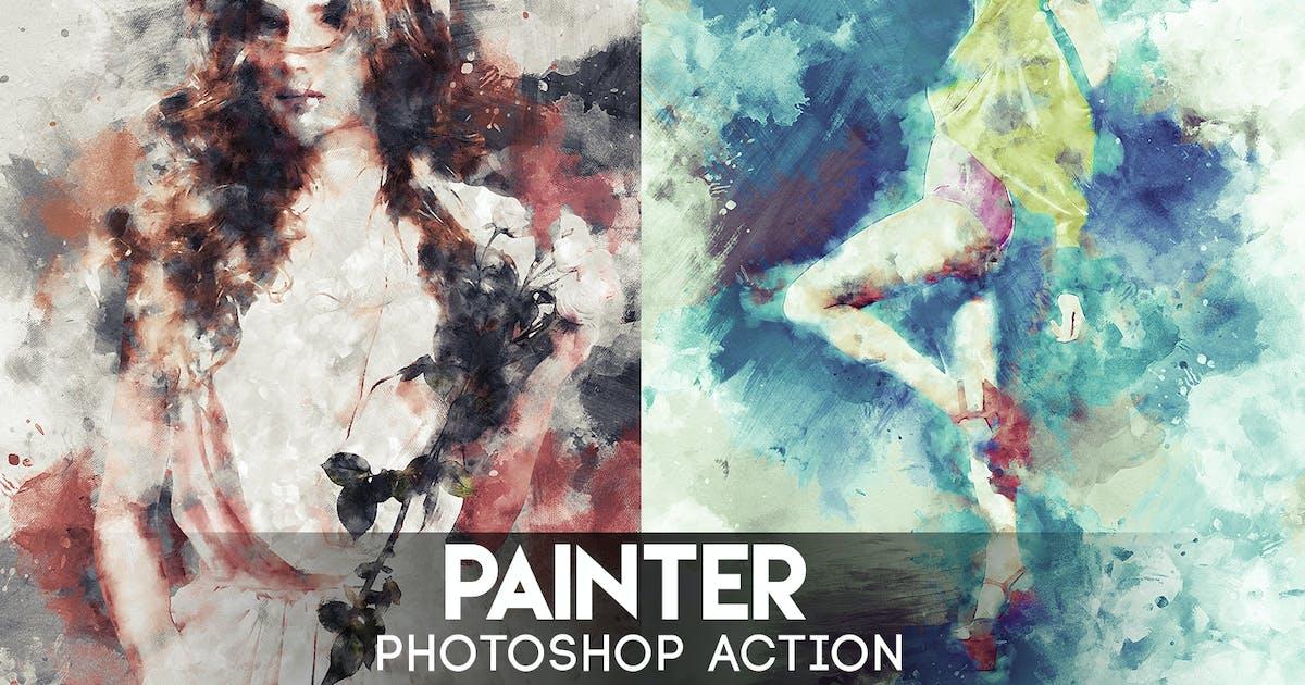 Painter Photoshop Action by Eugene-design on Envato Elements