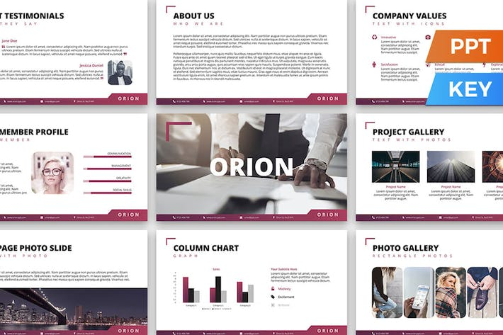Thumbnail for Orion Presentation Template