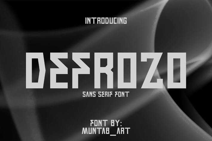 Thumbnail for Разрозо | Блочный шрифт