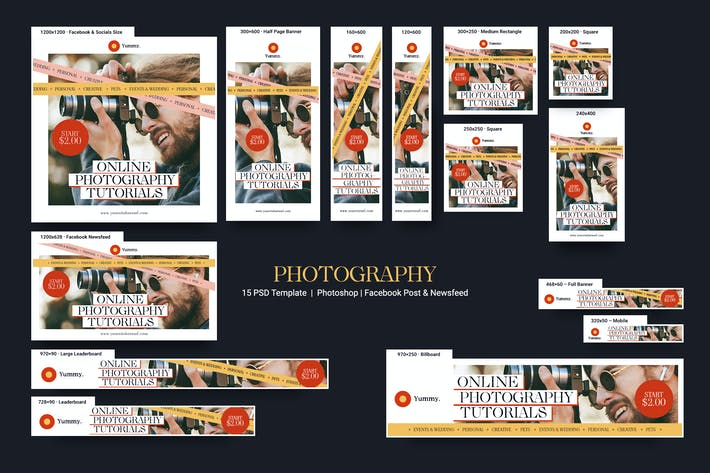 Thumbnail for Photography Services Banners Ad