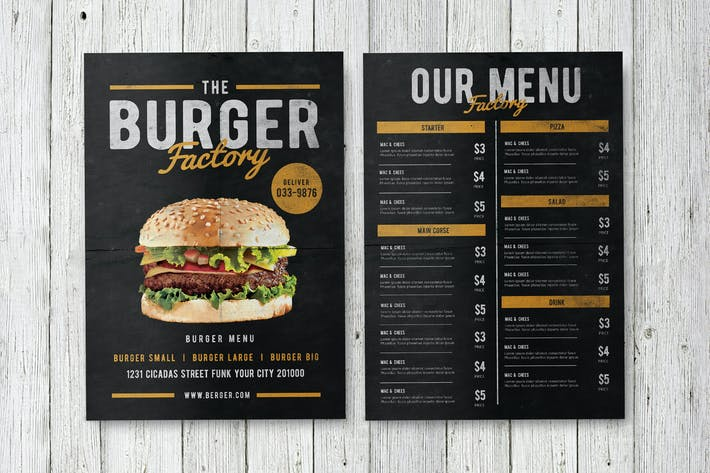 Thumbnail for Burger Factory menu