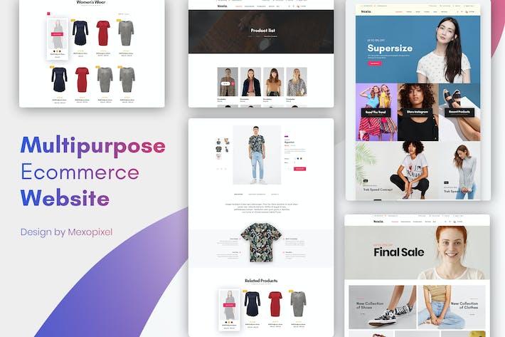 Thumbnail for Multipurpose Ecommerce Website Design Template