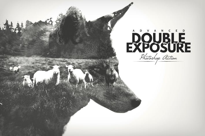 Thumbnail for Advanced Double Exposure - Photoshop Action