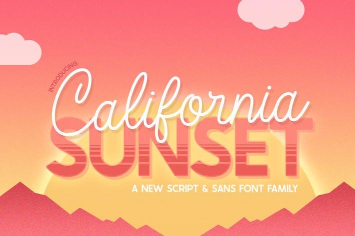 Thumbnail for California Sunset Font Family