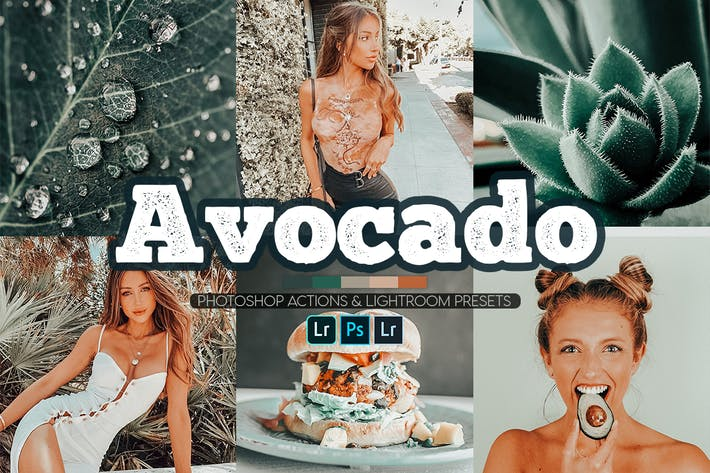 Thumbnail for Avocado Green Photoshop Actions + Lightroom Preset