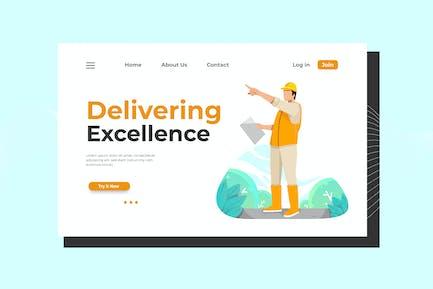 Delivering excellence Landing Page Illustration