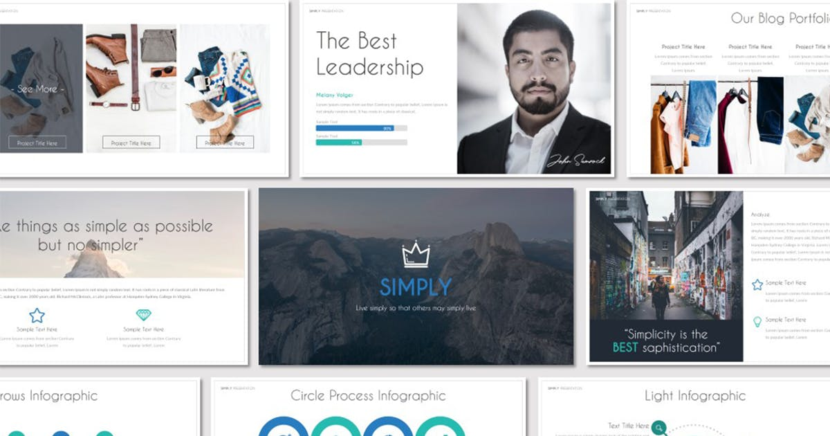 SIMPLY - Powerpoint Template by Unknow