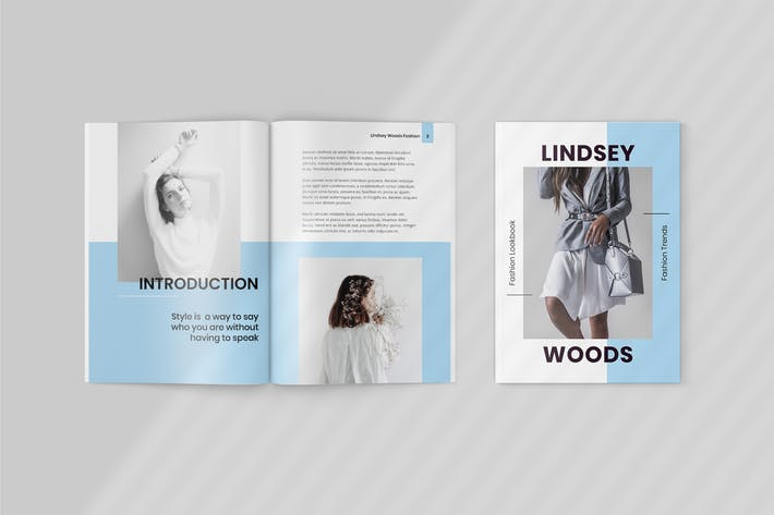 Thumbnail for Lindsey - Fashion Lookbook Template