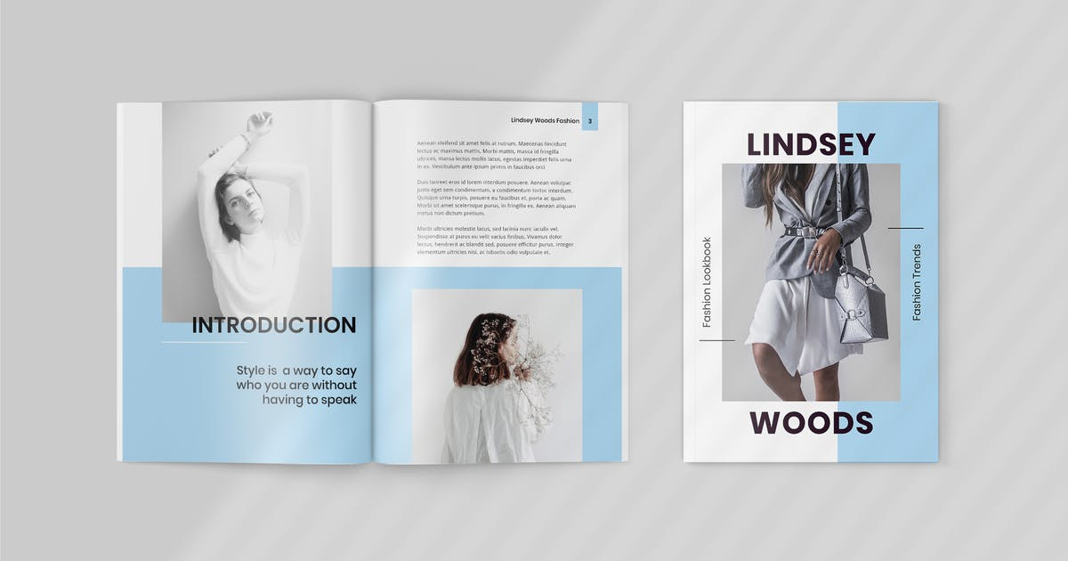 Lindsey Fashion Lookbook Template By Tmint On Envato Elements