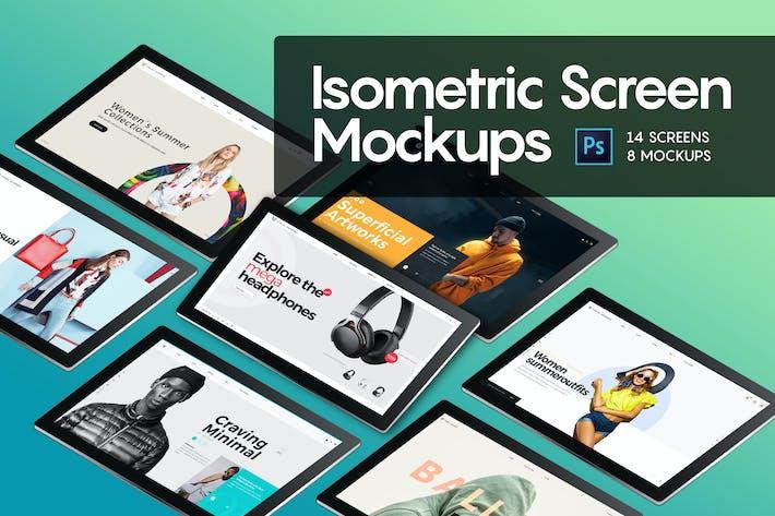 Thumbnail for Изометрический экран макап
