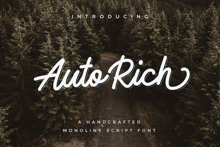 Thumbnail for AutoRich Monoline Script