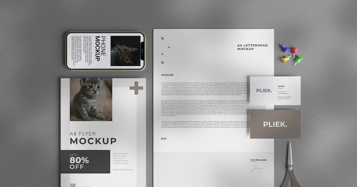 Download Minimalist Stationery - Scene Creator Mockup by raseuki