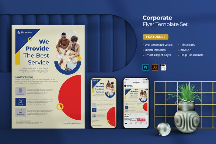Thumbnail for Corporate Flyer Set