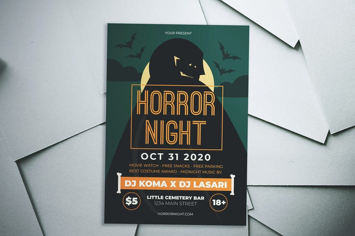 Thumbnail for Halloween Horror Night Flyer