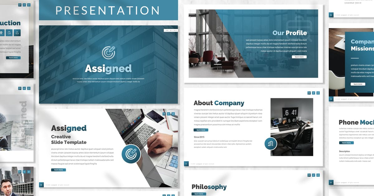 Download Assigned - Business Presentation Template by designesto