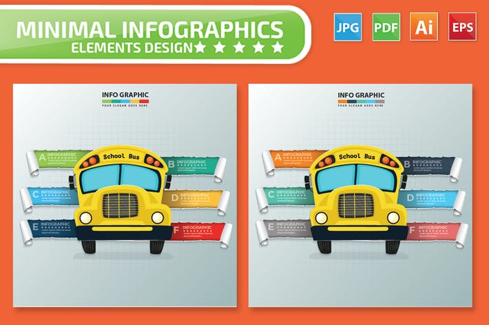 Thumbnail for School Bus infographic Design