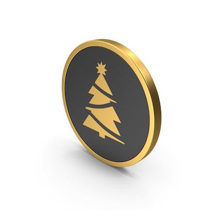 Gold Icon Christmas Tree