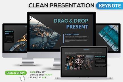 Clean Keynote Present
