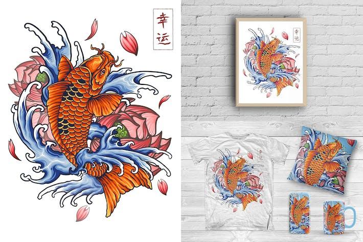 Thumbnail for Koi Japonais Tattoo