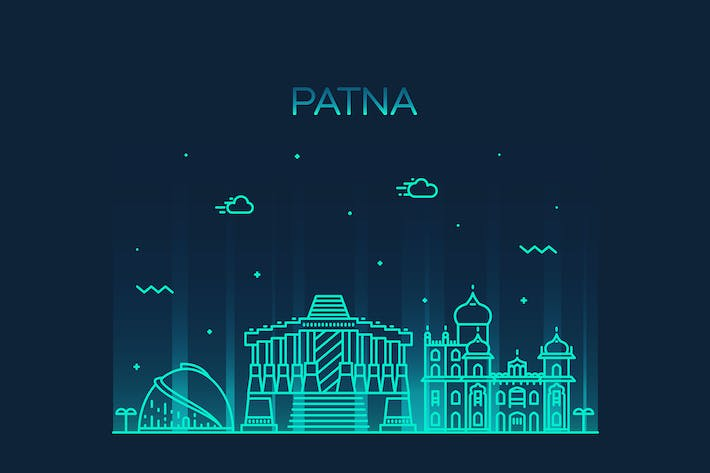 Cover Image For Patna skyline, India