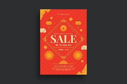 Chinese New Year Sale Flyer