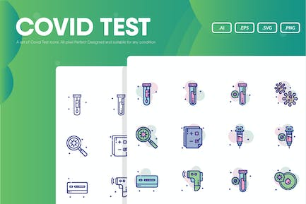 Covid Test Icon Pack