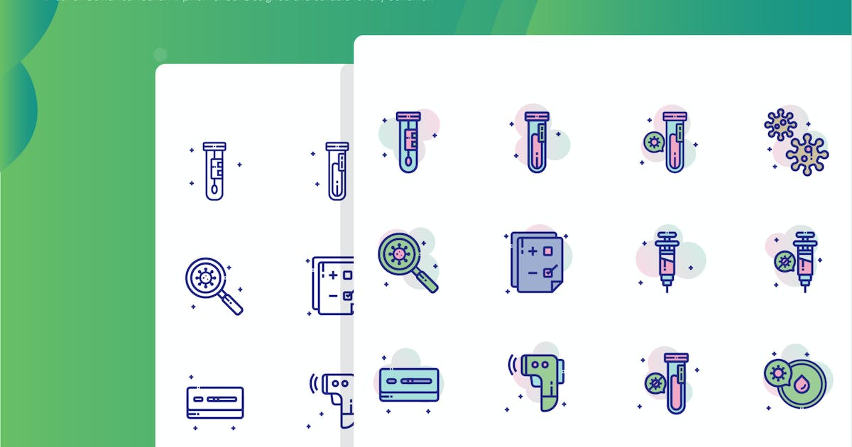 Download Covid Test Icon Pack by inspirasign