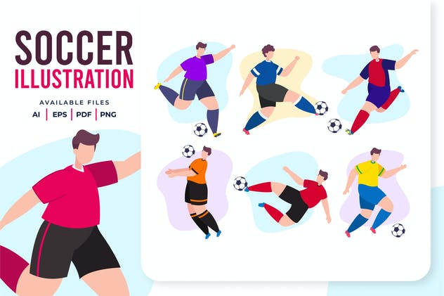 Soccer Flat Illustration