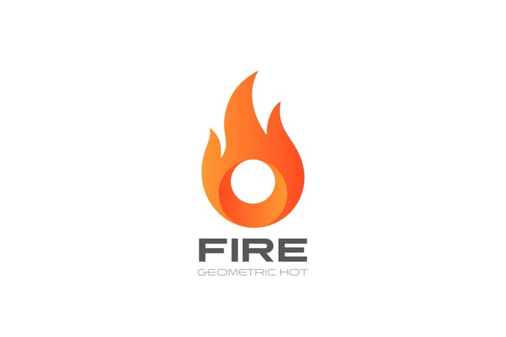 Thumbnail for Logo Fire Flame Circle shape abstract
