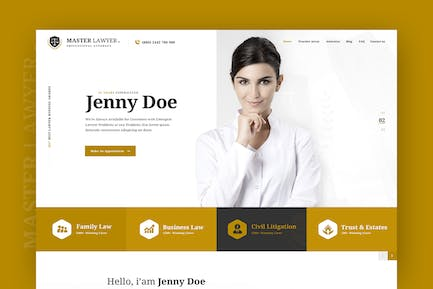 Master Lawyer - PSD Template