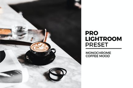 Monochrome Coffee Mood Lightroom Preset