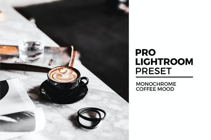 Thumbnail for Monochrome Coffee Mood Lightroom Preset
