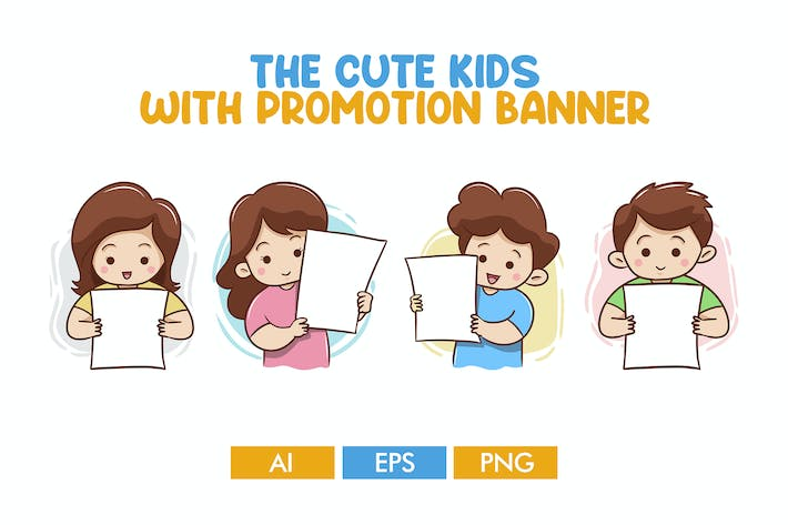 Thumbnail for The Cute Kids With Promotion Banner